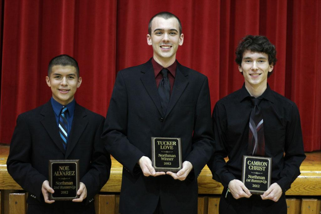 2012 Northman announced at basketball game on Jan. 31