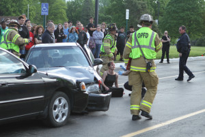 Seniors participate in Mock DUI