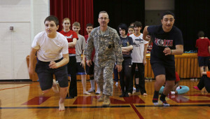 Students try out National Guard Obstacle Course
