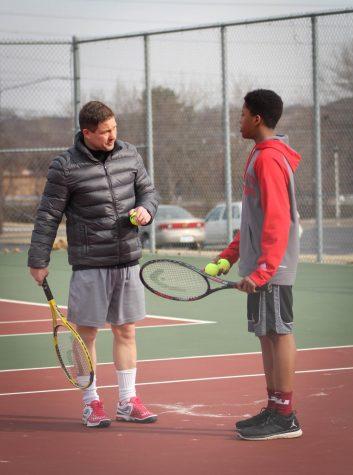Boy's Tennis Practice