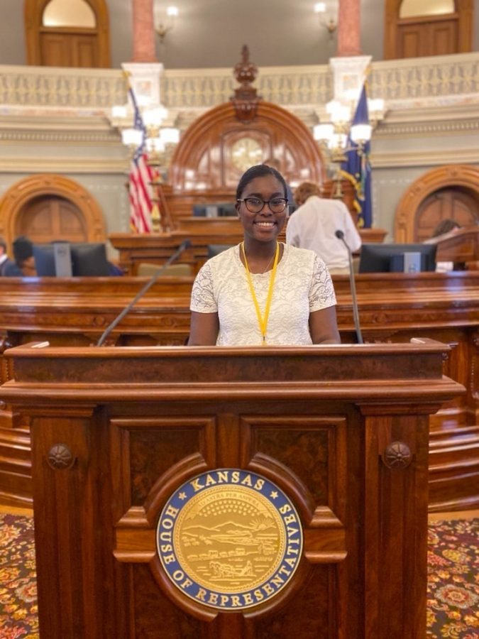 Students learn law making process in Kansas Youth and Government event