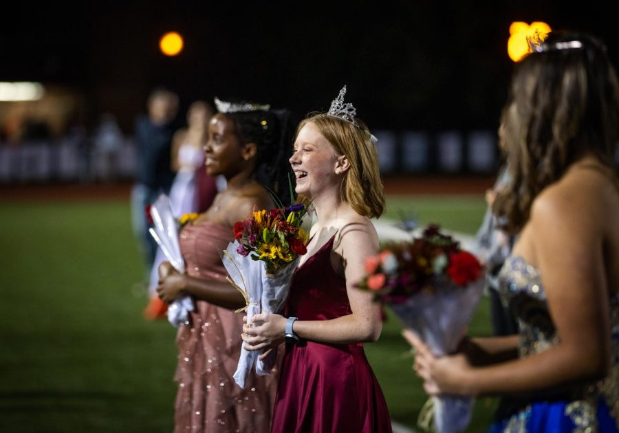Smiling+together+for+a+photo+following+their+crowning%2C+Homecoming+Queen+Ruth+Long+%28middle%29+takes+photos+with+Second+Attendant+Glory+Obi+%28left%29+and+First+Attendant+Kayla+Anderson+%28right%29.+%22I+was+just+so+shocked+at+this+point.+Dr.+Higgins+had+said+something+funny+about+trying+not+to+mess+up+my+hair+while+putting+the+crown+on%2C%22+Long+said.+%22The+whole+thing+just+struck+me+as+really+funny+in+that+moment.+Once+it+all+settled+in%2C+I+just+felt+incredibly+loved+and+happy%22